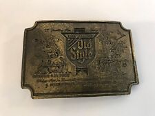 Heilmans Old Style 1979 Limited Edition Heavy Duty Metal Belt Buckle USA