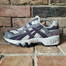 Vintage 90's Asics Women's Tennis Shoes Gel Runners White Blue Dad Shoes TN955