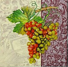 GRAPES VINEYARD WINERY 2 single LUNCH SIZE paper napkins for decoupage 3-ply