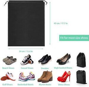10er Schuhbeutel, Wasserabweisend Schuhtasche Staubdicht Schuhsack mit Zugband