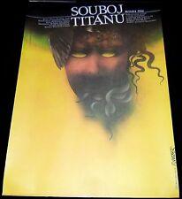 """1981 Clash of the Titans ORIGINAL CZECH 11""""x16"""" POSTER Medusa art by Jan Weber!"""