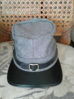 REPLICA CONFEDERATE STATES OF AMERICA CIVIL WAR KEPI CAP - GREY