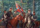 Robert E. Lee & Stonewall Jackson, Horse Binoculars, Military Civil War Postcard