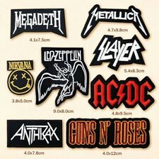 8x Rock Band Embroidered Iron On Sew On Patches Guns n' Roses -  Nirvana (002)