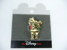 Disney Winnie The Pooh  Gold Tone Brooch Holiday Wreath  USA Seller