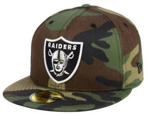 Official Oakland Raiders NFL Basic Fashion Camo New Era 59FIFTY Fitted Hat