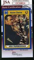 Ara Parseghian 1990 Notre Dame Jsa Coa Hand Signed Authentic Autograph