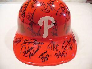 Philadelphia Phillies Autographed Full Size Helmet - (51 Signatures) - Very Nice