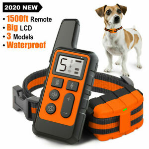 Waterproof Rechargeable Remote Pet Dog Training Collar Electric Shock Anti-bark