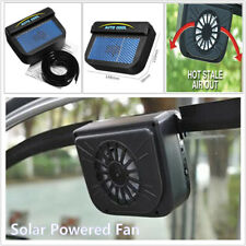 Solar Power Car Truck SUV Window Windshield Air Vent Cooling Fan Cooler Radiator