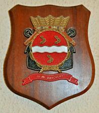 Hr Ms Banckert plaque shield crest Dutch Navy Netherlands gedenkplaat HNLMS