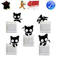 SET 12 STICKERS AUTOCOLLANTS INTERRUPTEUR PRISE MURALE CHATS JOUEURS DECORATION