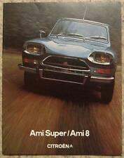 CITROEN AMI SUPER & AMI 8 Car Sales Brochure Sept 1973