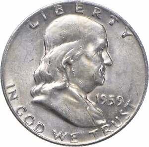 Choice Uncirculated BU MS 1959-D Franklin Half Dollar 90% Silver Tough Coin *610