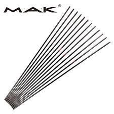 Archery Arrows DIY 100% Pure Carbon Arrow Shaft Spine 400 F/Practice Hunting X12