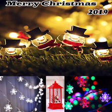 Santa Xmas Tree SNOWMAN Outdoor LED Lights Merry Chrismas Hanging Seasonal Decor