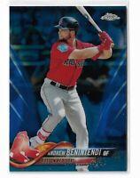 2018 Topps chrome baseball Blue refractor parallel Andrew Benintendi 40/150