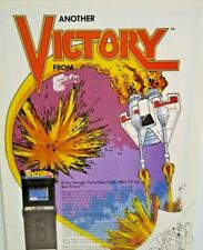 Exidy Victory Original Vintage Video Arcade Game Promo Advertising Artwork Sheet
