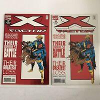 X Factor 100 Direct & Newsstand Variants VF NM Marvel Comics 1994 Duursema Foil