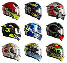 AGV K3 SV-S Motorcycle 2020 UK Specific Road Crash Helmets with Spoiler Rossi