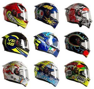 AGV K3 SV-S Motorcycle 2021 UK Specific Road Crash Helmets with Spoiler Rossi