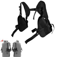 For Left+Right Hand Tactical Gun Pistol Double Shoulder Holster Bag Pouch Black
