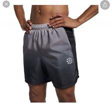 "Nike Challenger Men's 7"" Printed Running Shorts Black Grey Size XL AQ5056-056"