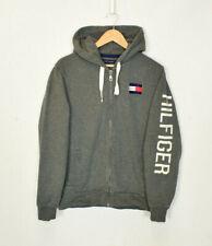 Vintage Tommy Hilfiger Grey Zip Hooded Jacket Medium