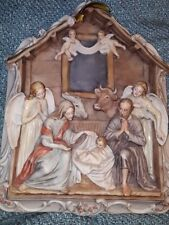LARGE CAPODIMONTE NATIVITY Wall-Hung Relief - by BRUNO MERLI - MINT Cond. RARE