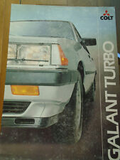 Colt Galant Turbo brochure Apr 1982