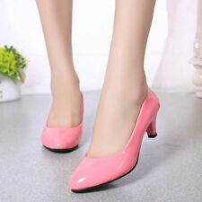 US Womens Low Mid High Heel Pointed Toe Pumps Work Office Ladies Bride Shoes