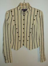 RALPH LAUREN COLLECTION Cream Military Stripe Jacket Italy Purple Label S RARE