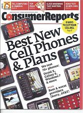 Consumer Reports Magazine January 2011 Cell Phones Pizza Bakeware Cars