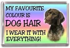 "German shorthaired Pointer Dog Fridge Magnet ""My Favourite Colour is Dog Hair"""