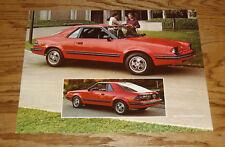 Original 1982 Mercury LN7 Sales Sheet Brochure 82
