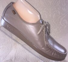 SAS Women 10 S N Siesta Mocha Taupe Tan Comfort Orthopedic Walking Loafer Shoe