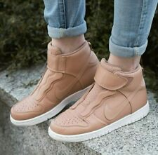 Nike Air Dunk High Ease Tan Beige Brown Leather Boots AF1 Style Women UK 6 EU 40