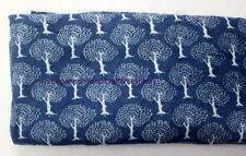 Indigo Blue Hand Block Print Cotton Fabric Dressmaking  5 Yard Christmas Gift 90