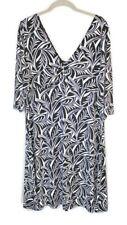 Tommy Bahama XL Black/White Stretch Poly Knee Length Shift Dress