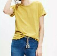 NWT Madewell Yellow Tee Shirt cotton size MEDIUM
