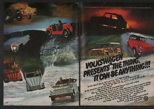 1973 VOLKSWAGEN THE THING Convertible Car - It Can Be Anything - VINTAGE AD