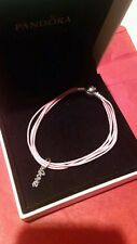 Authentic Pandora Soft Pink Multi-Strand Color Cord   7.9  Retired /love charm