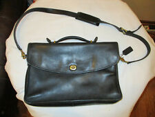Coach Black Leather Beekman Lexington Executive Briefcase Messenger Laptop Bag