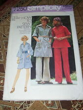 1975 SIMPLICITY #7250-LADIES ~HOW TO SEW~ PULLOVER DRESS-TOP & PANTS PATTERN  10