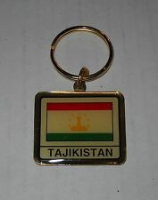 Wholesale Lot Of 10 Tajikistan Flag Metal Keychain, BRAND NEW