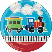 All Aboard Train Birthday Party Supplies Large Dinner Plates