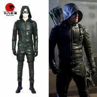 DFYM Green Arrow Season 5 Oliver Queen Cosplay Costume Full Suit Men Halloween