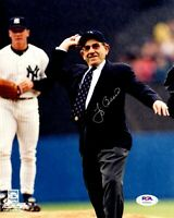 Yogi Berra autographed signed 8x10 photo MLB New York Yankees PSA COA WS Champ