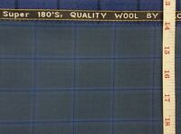Blue Suiting Fabric Suit Pants jacket blazer coat vest Check Plaid Cashmere wool