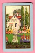 1 Single Swap Playing Card Cottage Better Homes & Gardens Magazine Ad Vintage